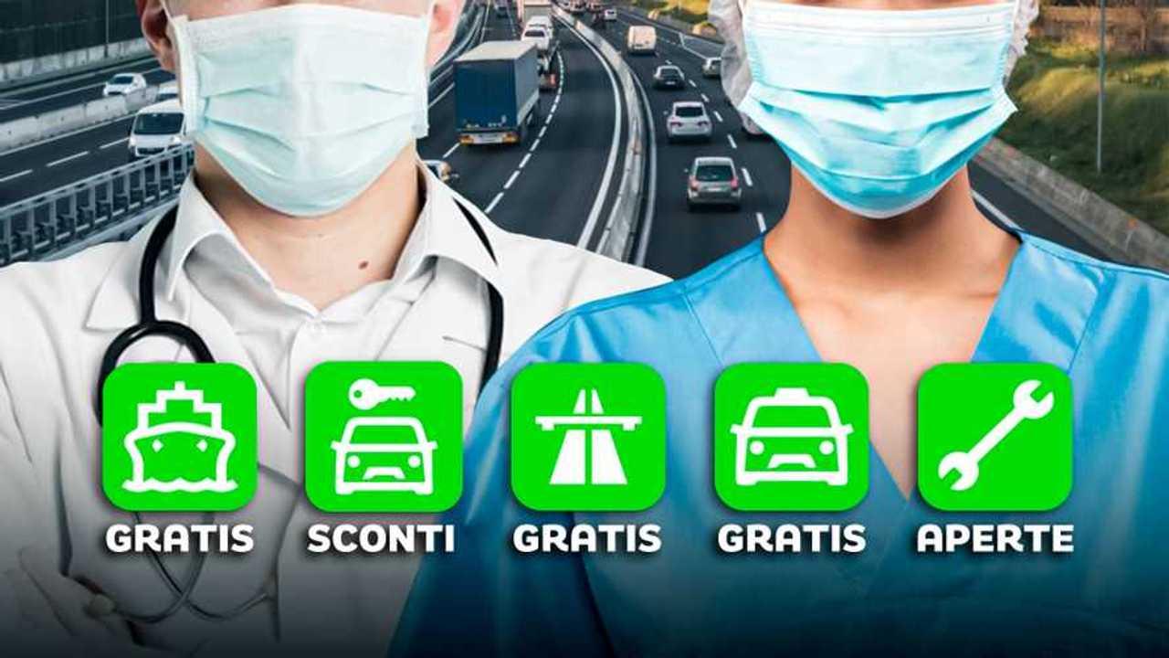 Dalle autostrade ai taxi gratis: tutte le agevolazioni per chi combatte il Coronavirus