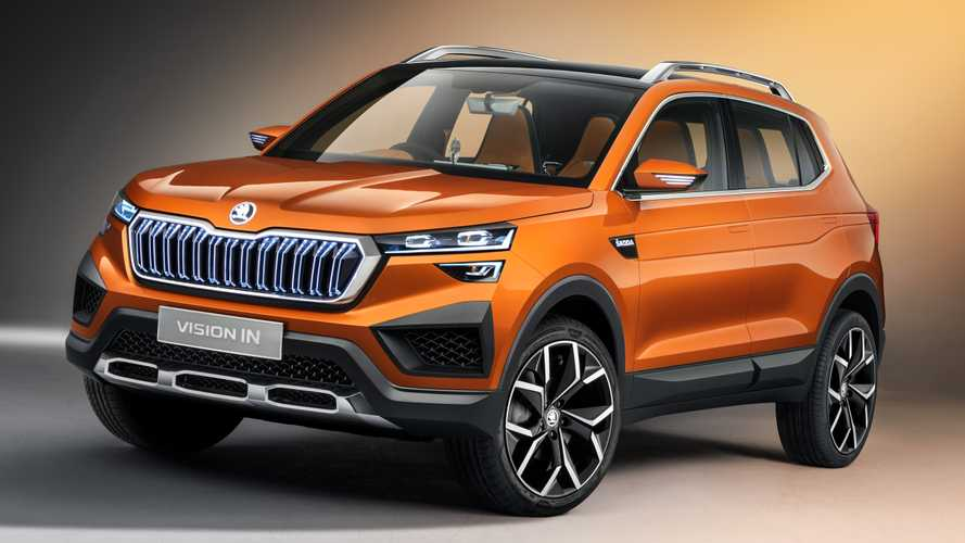Skoda Vision IN Revealed With Illuminated Grille, Orange Seats