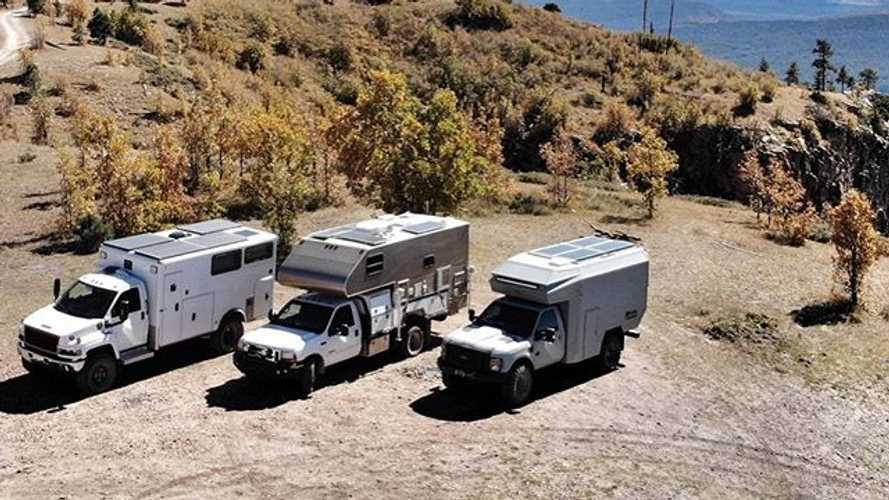 Ford F-550 turned into motorhome