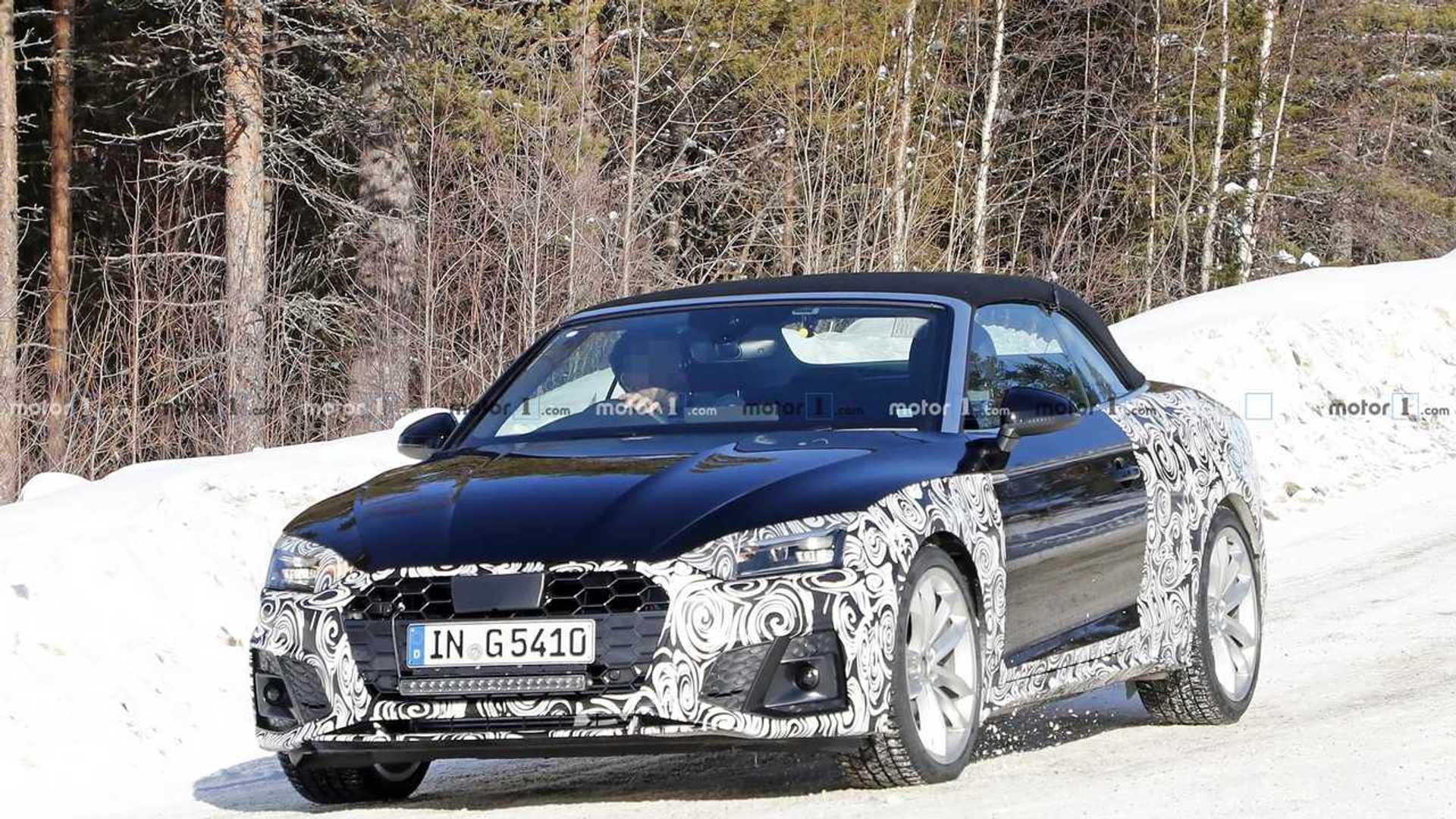 2020 - [Audi] A5 Coupé/Cab/SB restylée Audi-a5-convertible-facelift-first-spy-photo