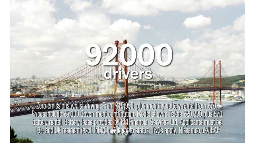 Nissan Passes 92,000 Sales Worldwide - Makes Commercial About It (video)