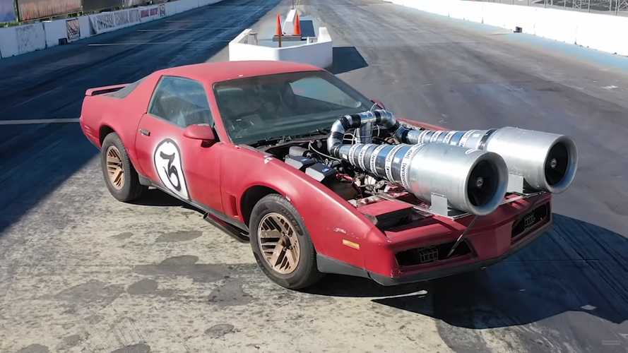 Pontiac Firebird with homemade 'turbos' look brilliant