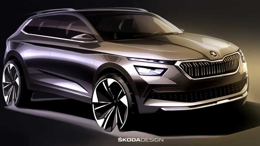 2019 Skoda Kamiq Design Sketches Preview The Stylish Crossover