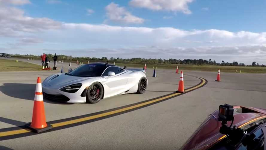 Stock McLaren 720S drag races 1,000-bhp version and loses