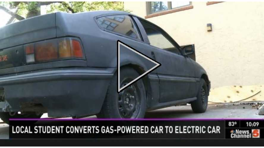 Video: High School Student Defies Parents by Converting Honda CRX Over to Electric; Now Seeks Future Job at Tesla