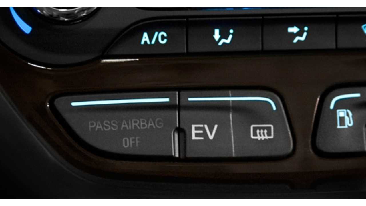 Selectable Ev Mode On Ford C Max Energi