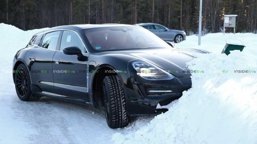Porsche Taycan'ın station wagon versiyonu kış testinde