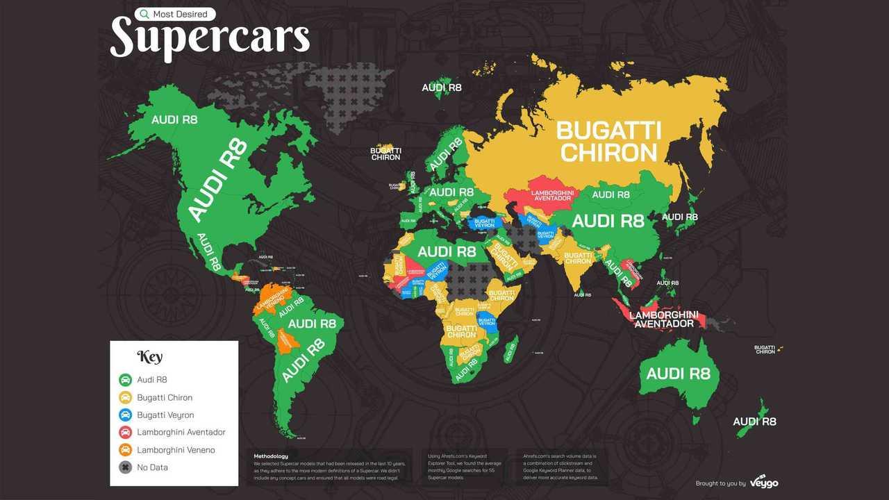 Les supercars les plus recherchées sur Google