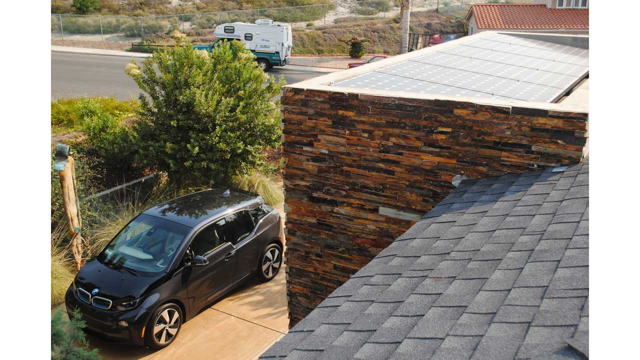 BMW i3 And Solar Panels On Roof