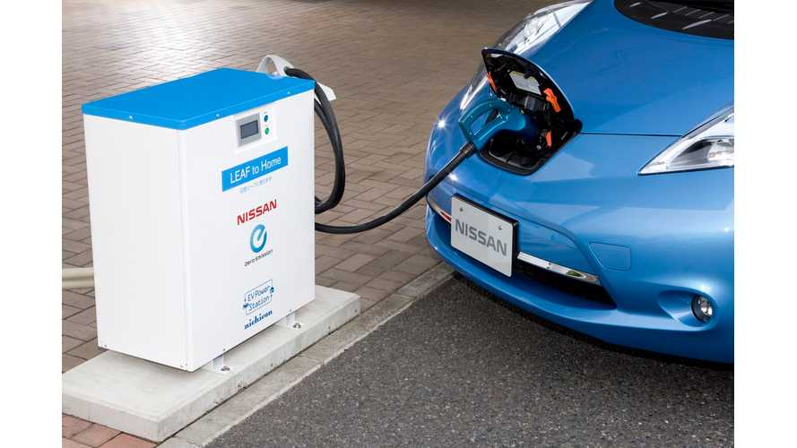 Nissan To Donate 47 LEAFs and LEAF-to-Home Power Supply Systems In Japan