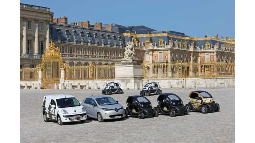 Renault Charges Up Palace of Versailles With 23 Electric Vehicles (w/video)