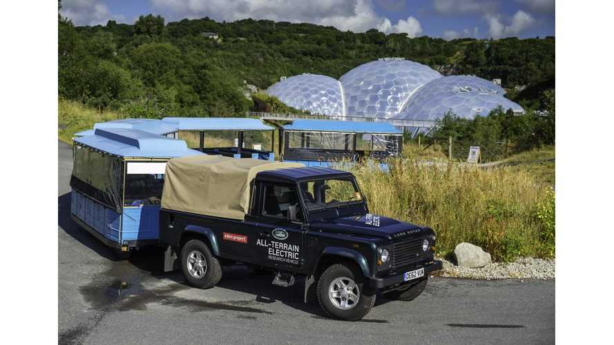 Land Rover Electric Defender in Real-World Trials in Garden of Eden