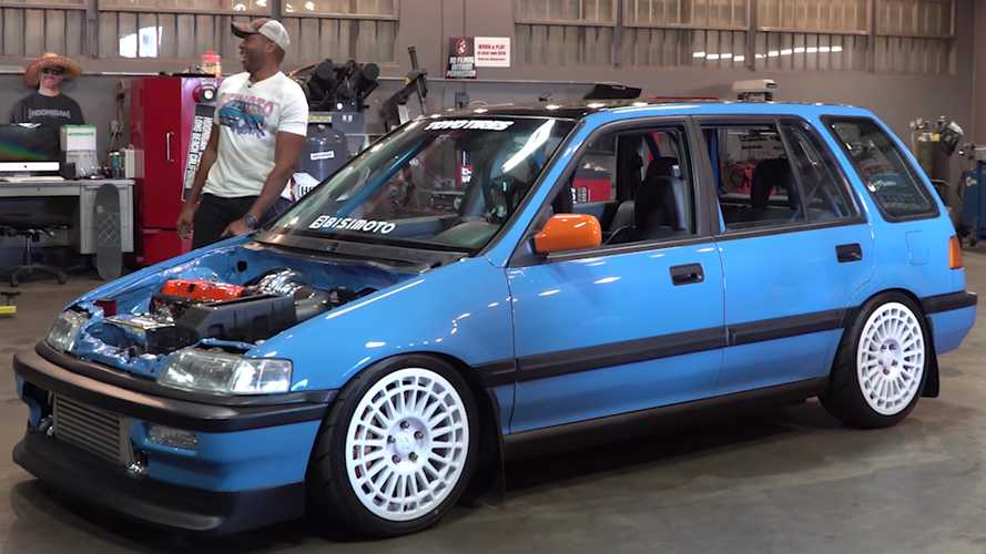 Old Honda Civic Wagon Gets New 1,000-HP Heart