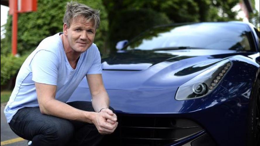Gordon Ramsay fa visita alla Ferrari