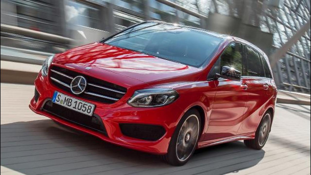 [Copertina] - Mercedes Classe B restyling, anche a metano ed elettrica