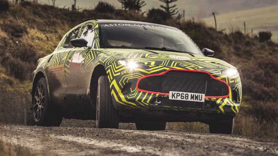 Aston Martin DBX Teased With Camouflaged Prototype