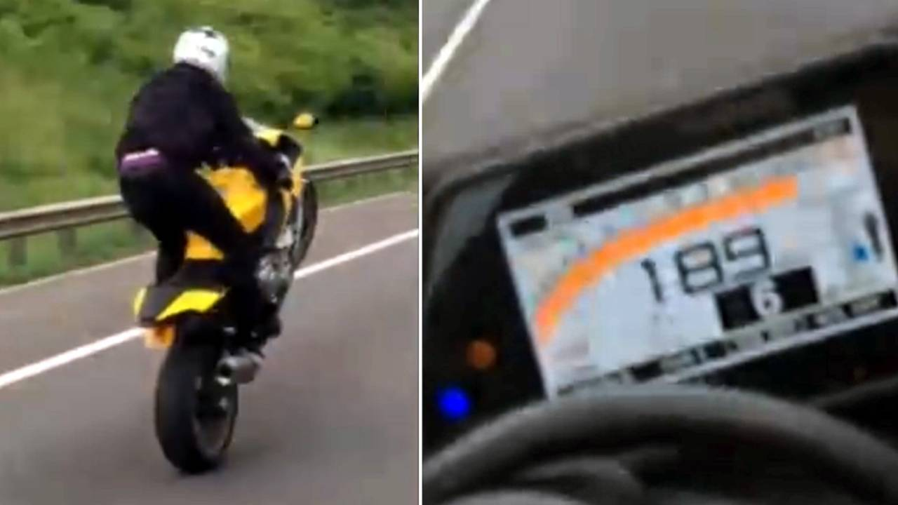 Man jailed for 189mph bike ride