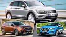 Die besten Rivalen des VW Tiguan im Vergleich