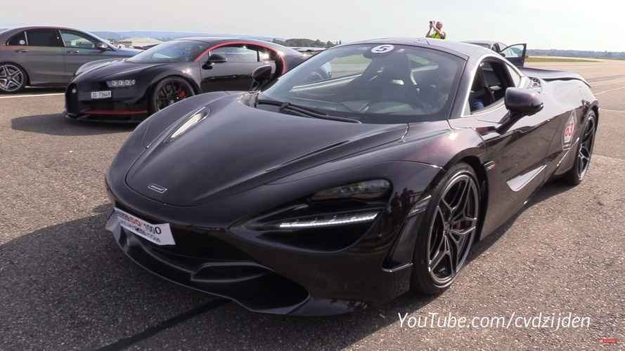 Bugatti Chiron gets revenge on McLaren 720S in rolling drag race