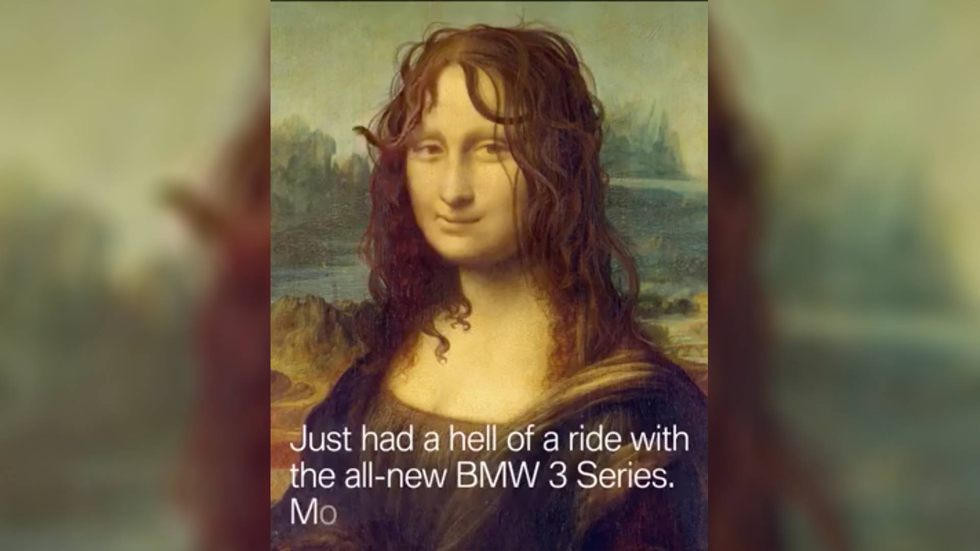 2019 bmw 3 series teaser has mona lisa going for a test drive