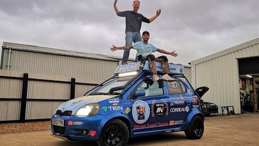 Cambridgeshire pair are driving to Tokyo in a 16-year-old Yaris