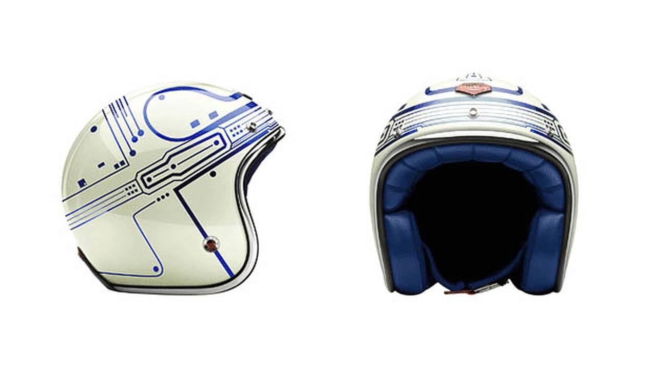 Ruby's Tron motorcycle helmet