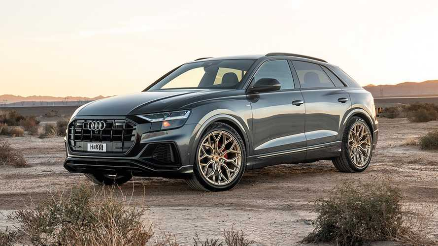 2019 Audi Q8 Gets A Slick Set Of Gold-Painted Shoes