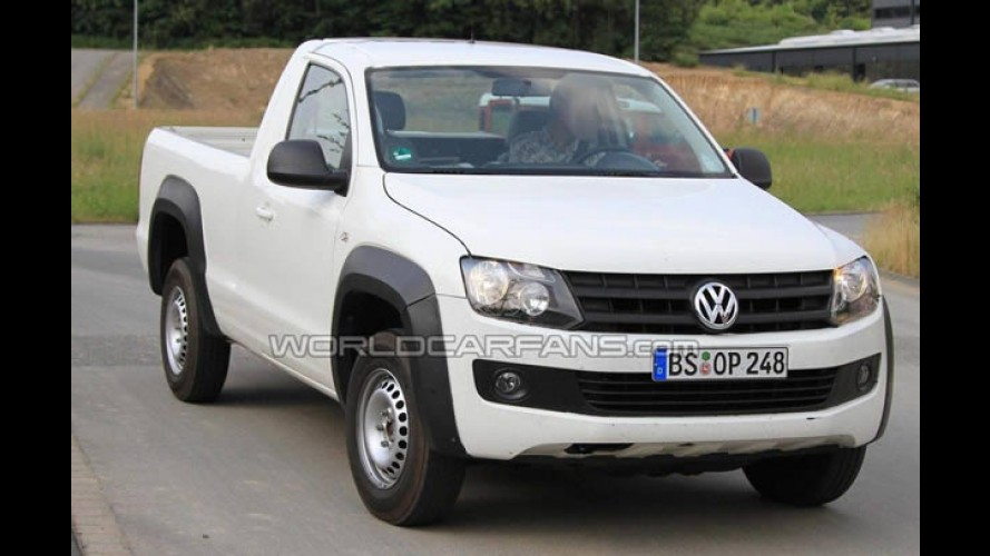 VW Amarok de cabine simples aparece novamente