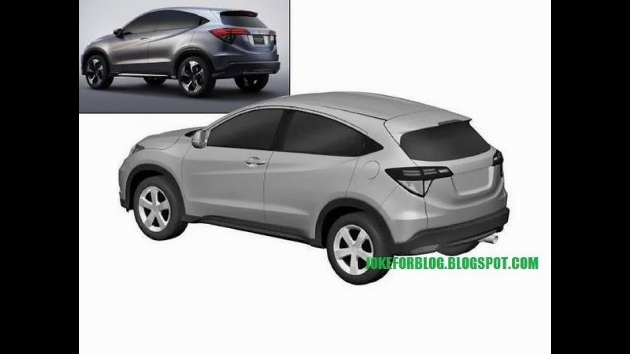 Vazou: Honda Urban SUV tem desenhos revelados em registro de patentes
