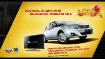 Promoção Natal Antecipado Toyota dá TV LED 3D de 40 pol e Blu-ray para compradores de Corolla
