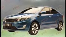 Novo Kia Rio Sedan 2012 aparece por completo sem camuflagem