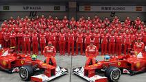 Scuderia Ferrari team photo, Chinese Grand Prix 2012