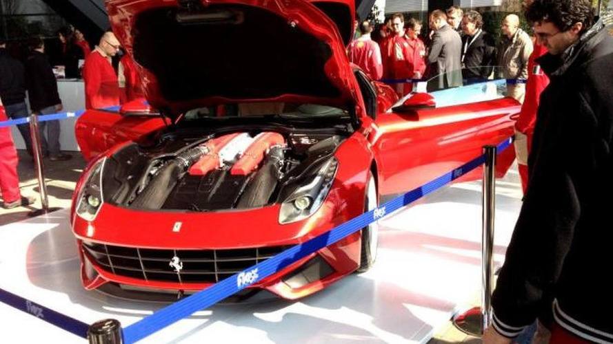 Ferrari F12 Berlinetta first live images