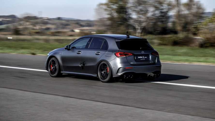 Mercedes-AMG A45 drag races BMW M2 Competition and Audi RS3