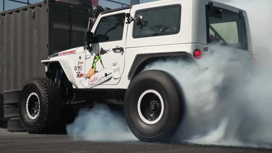 See LS-Swapped Jeep Wrangler With 930 HP Assault Its Off-Road Tires