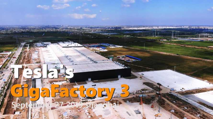 Tesla Gigafactory 3 Construction Progress September 27, 2019: Video