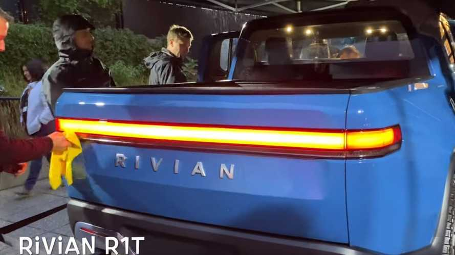 See The Rivian R1T Electric Pickup Truck In Blue For First Time Ever