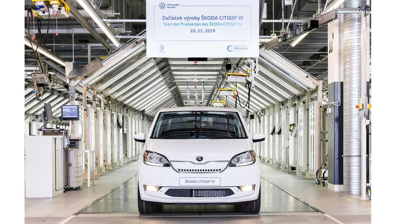 Start of production for the battery-powered Škoda CITIGOe iV