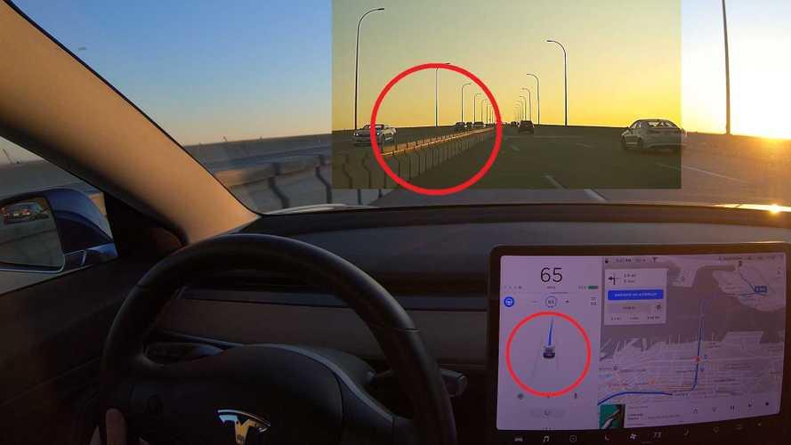 Déjà Vu? Tesla Autopilot Almost Hits Temporary Concrete Barrier