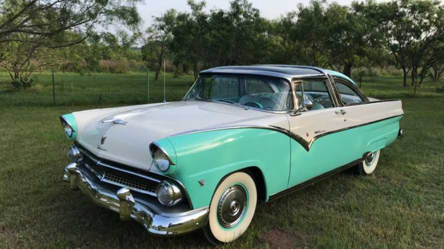 See It All In A 1955 Ford Fairlane Crown Victoria Skyliner Glass Roof