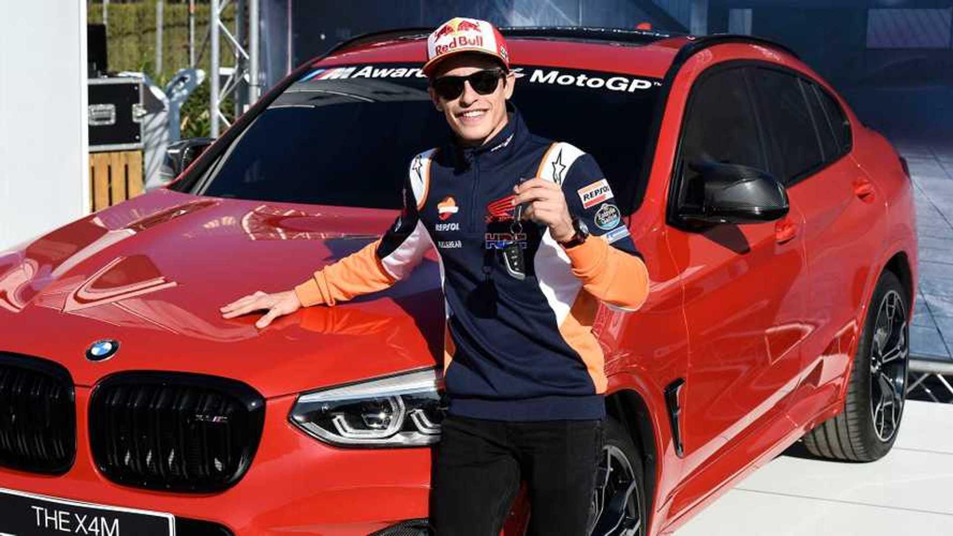 Marc Márquez gagne un X4 M Competition, sa 7e BMW d'affilée
