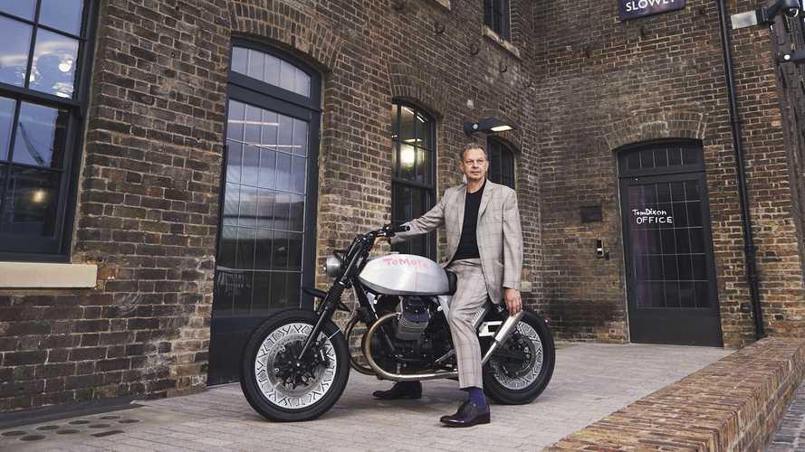 La Moto Guzzi V7 di Tom Dixon protagonista a Londra