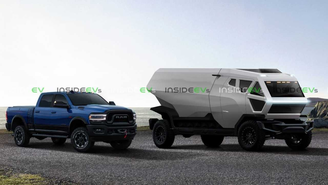 Tesla Truck Render With Ram