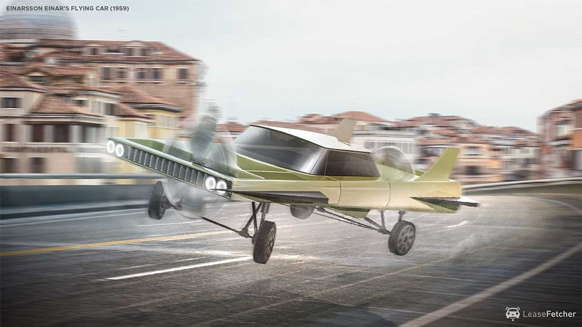 8 Flying Cars Rendered Based On Patents Going Back To 1912