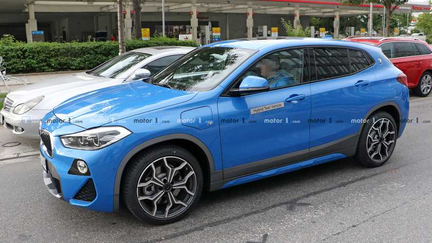 BMW X2 PHEV spied practically undisguised on the road