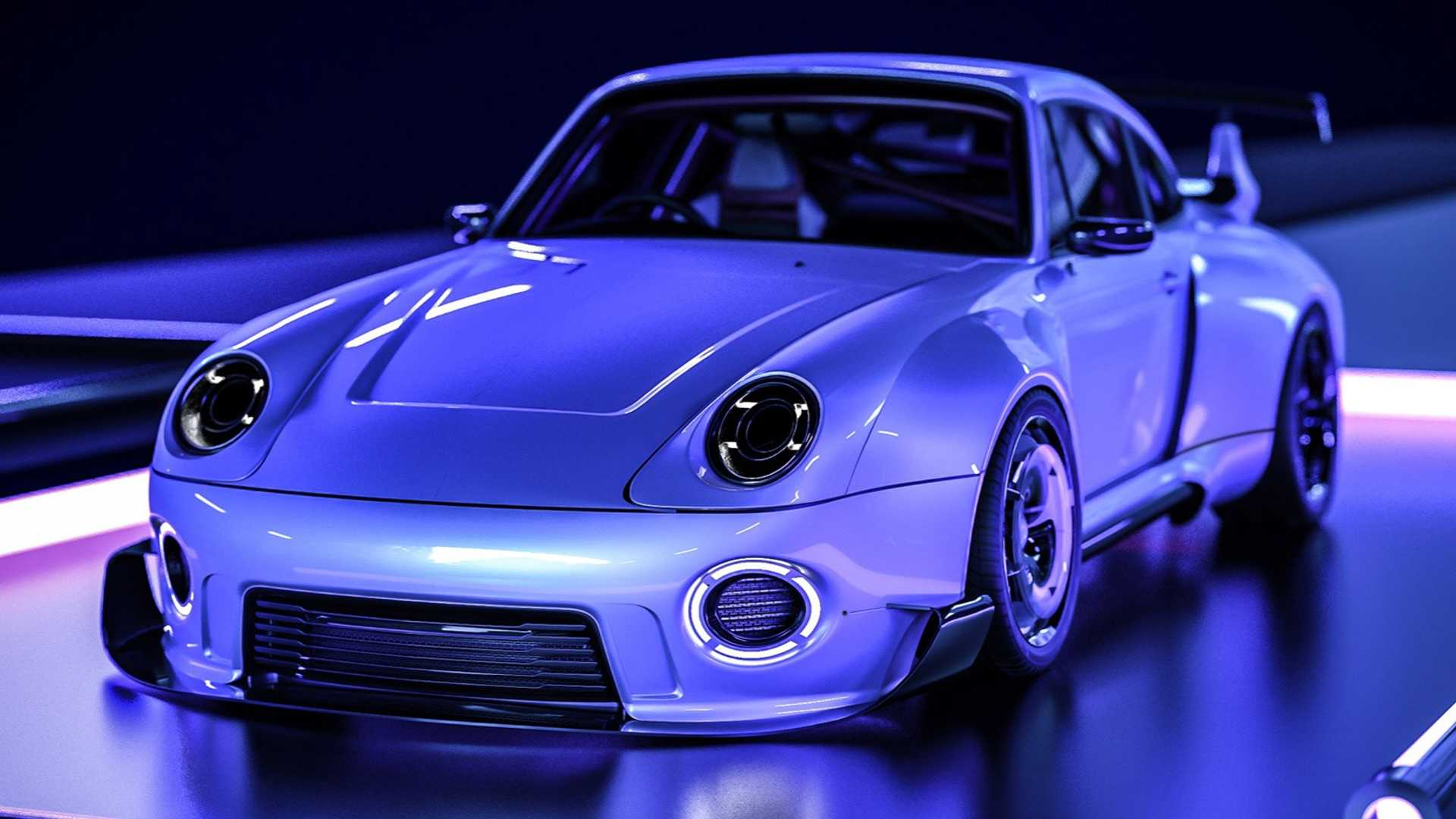 New Retro-Futuristic Renderings Take The Porsche 993 To Another Level