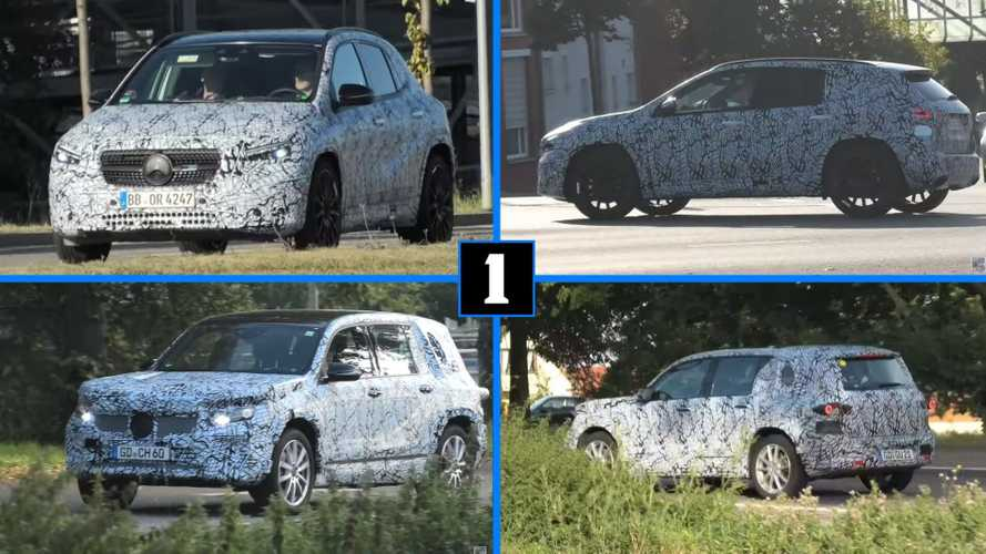 New Mercedes GLA And EQB Spied In Traffic All Covered Up