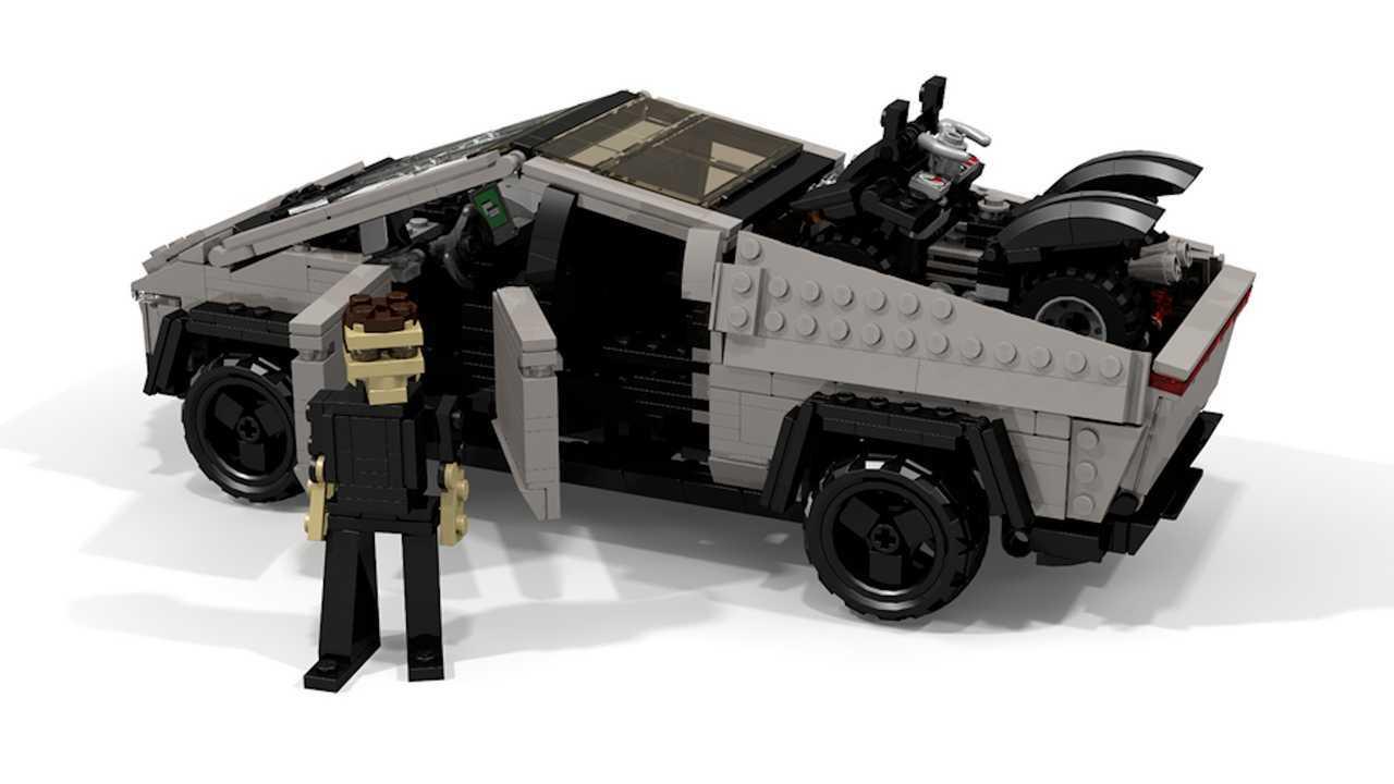 Tesla Cybertruck Lego di Peter Blackert