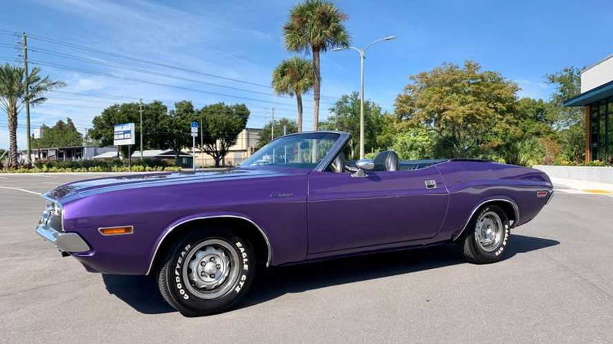 Cheer For The Plum Crazy 1970 Dodge Challenger Convertible