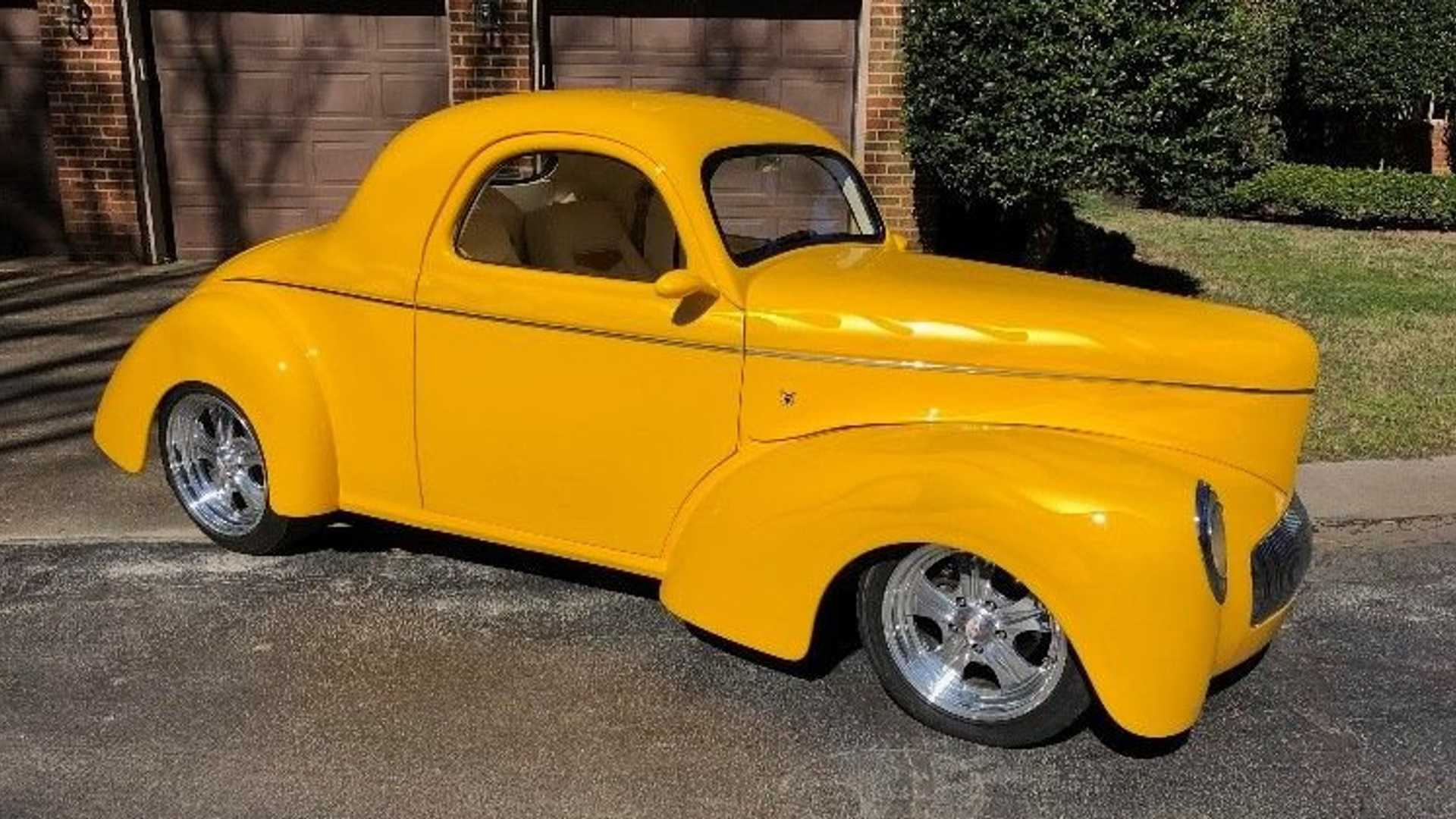 "[""Ghost-Flamed 1941 Willys Coupe Is A Cool Hot Rod""]"